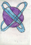 Crayons on paper, 14,8/21 cm, 1992