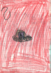 Crayons on paper, 14,8/21 cm, 1995
