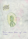 Crayons and pen on paper, 21/29,7 cm, 1994