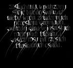 stars calligraphy installation kaleidoscope